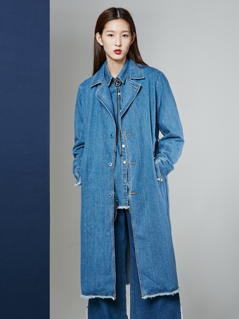 [50%] * UNISEX * 16FW  DREAMER DENIM LONG COAT_BLUE