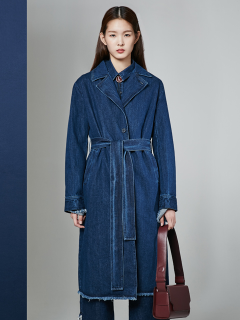 [50%] * UNISEX * 16FW  DREAMER DENIM LONG COAT_NAVY