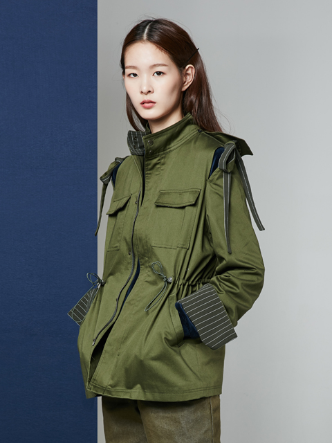 [30%] 16FW BEAUTY RIBBON UTILITY JACKET_KHAKI