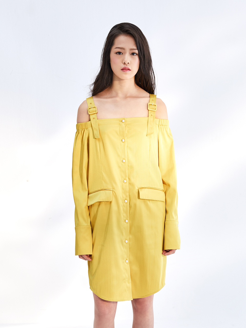 17SS OFF SHOULDER DRESS_YELLOW