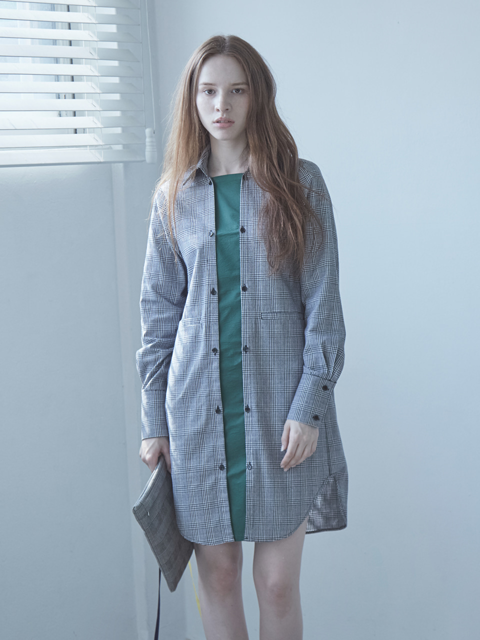 17FW DETACHABLE SHIRT DRESS