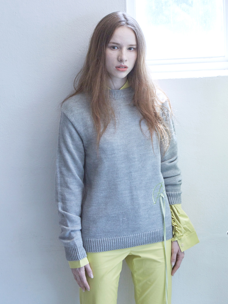 17FW ALPHA OMEGA KNIT TOP_GREY
