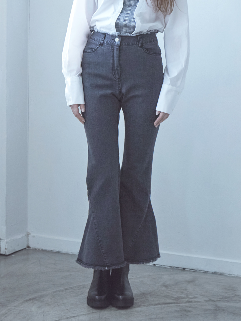 17FW BELL BOTTOM DENIM PANTS