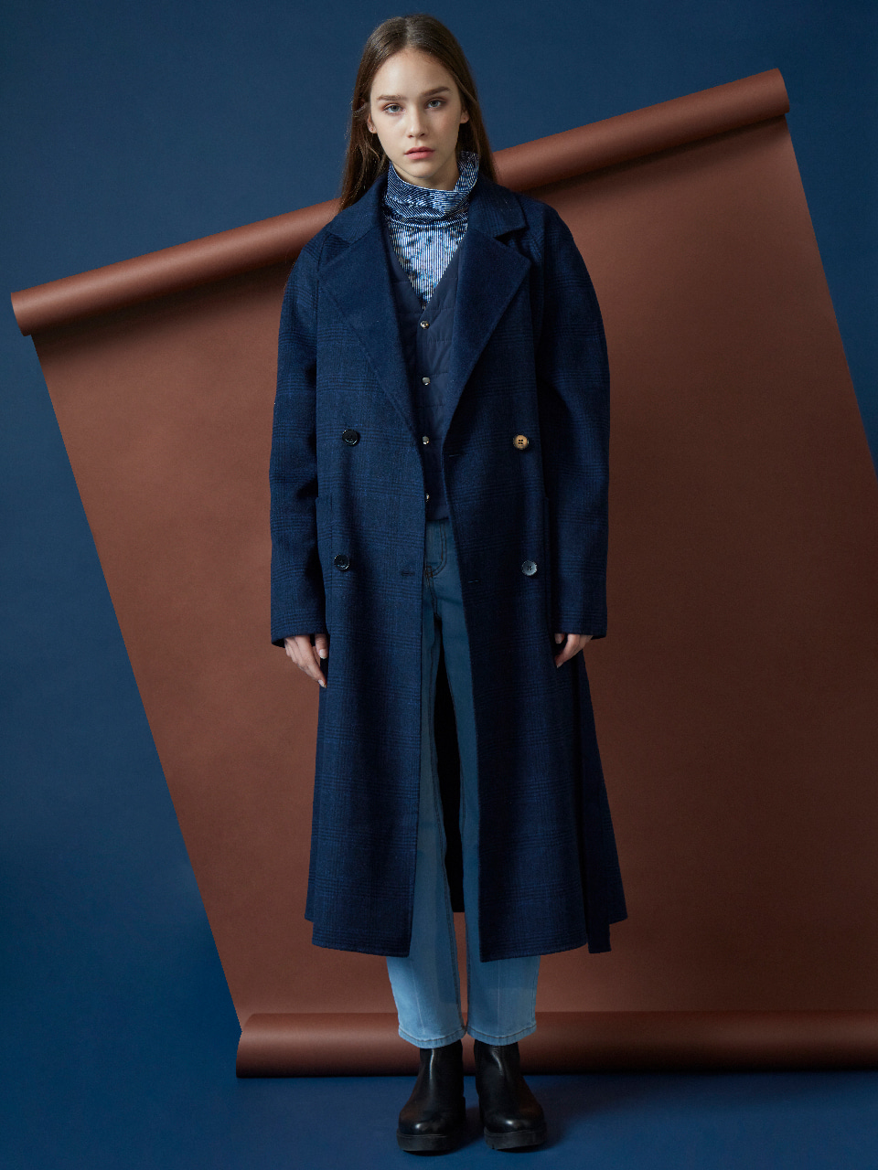 17FW REVERSIBLE HANDMADE COAT_NAVY