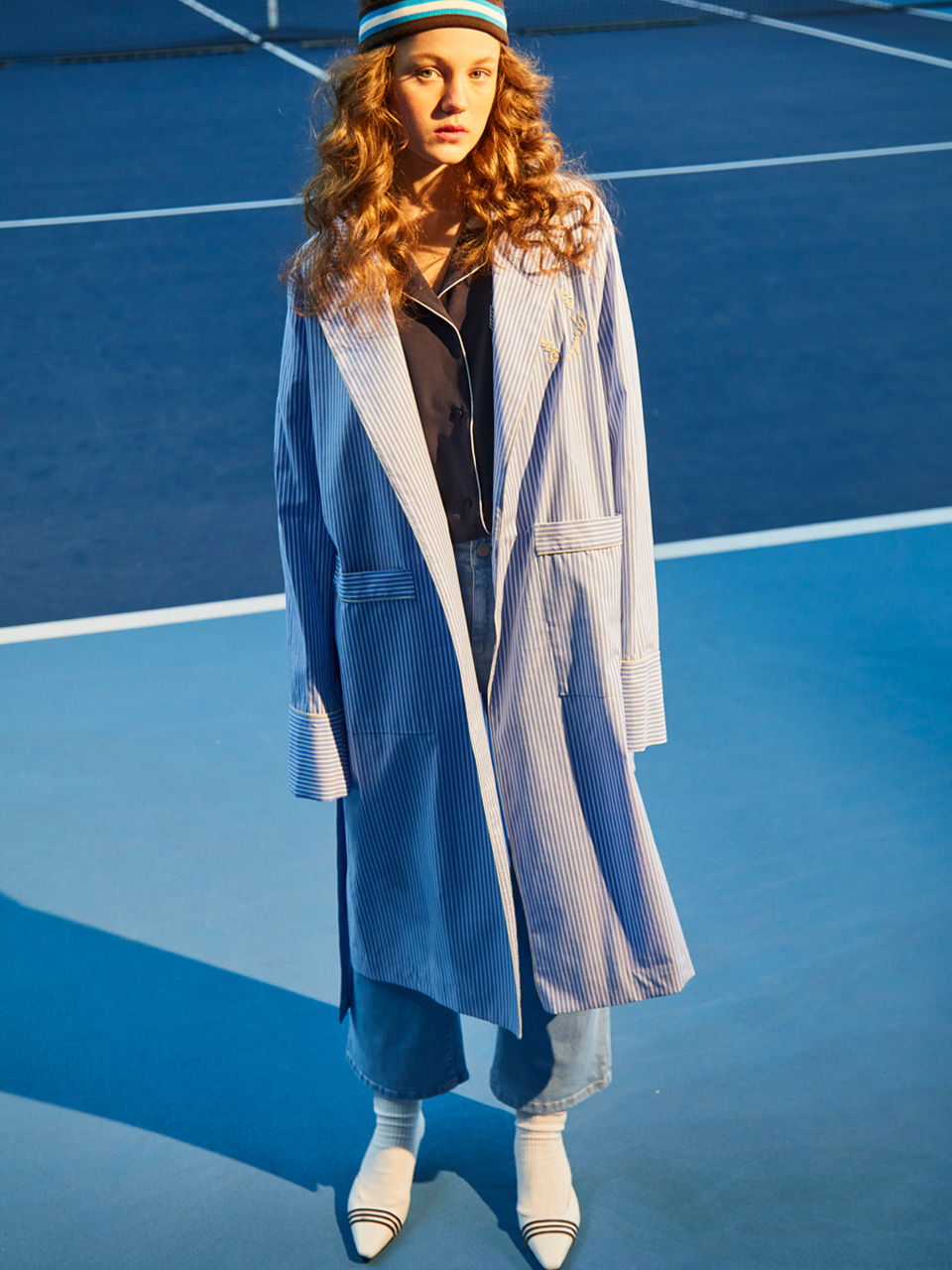 18SS ROBE COAT_BLUE