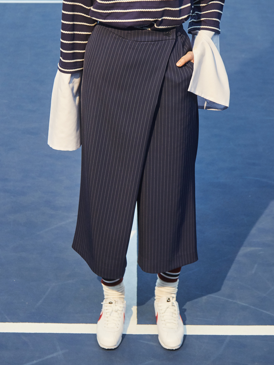 18SS WRAP CROP PANTS