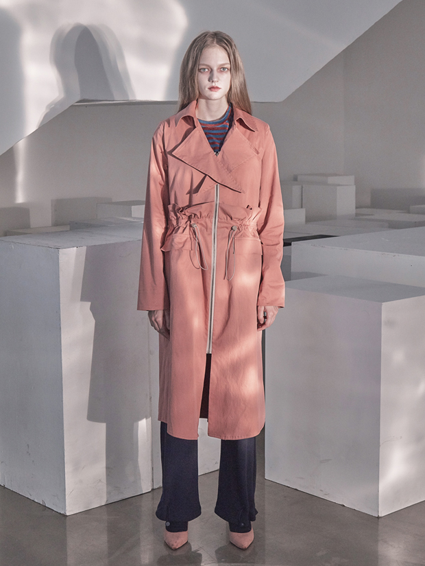 18FW STRING TRENCH DRESS