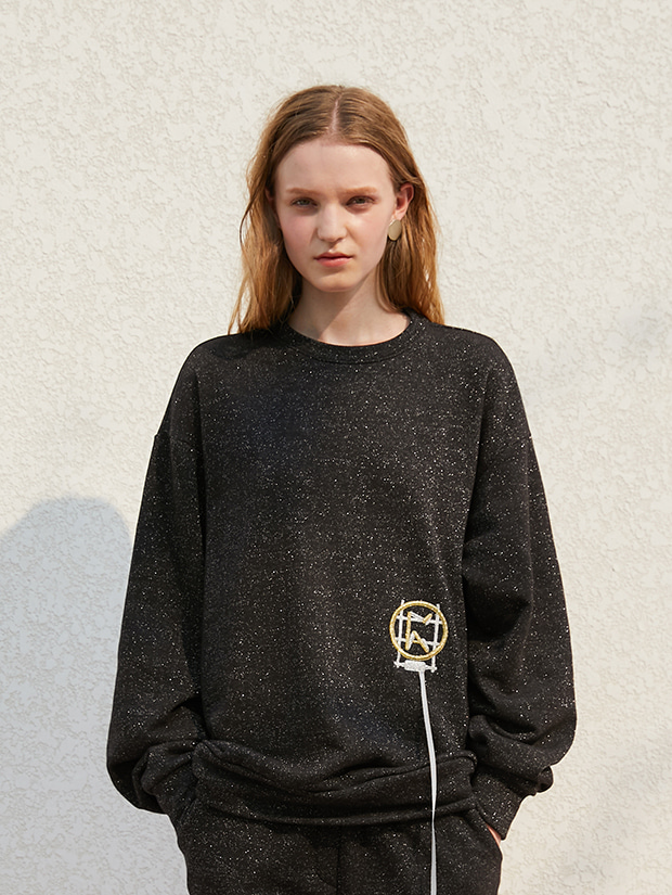 19FW 1ST GLITTER K SWEAT_BLACK