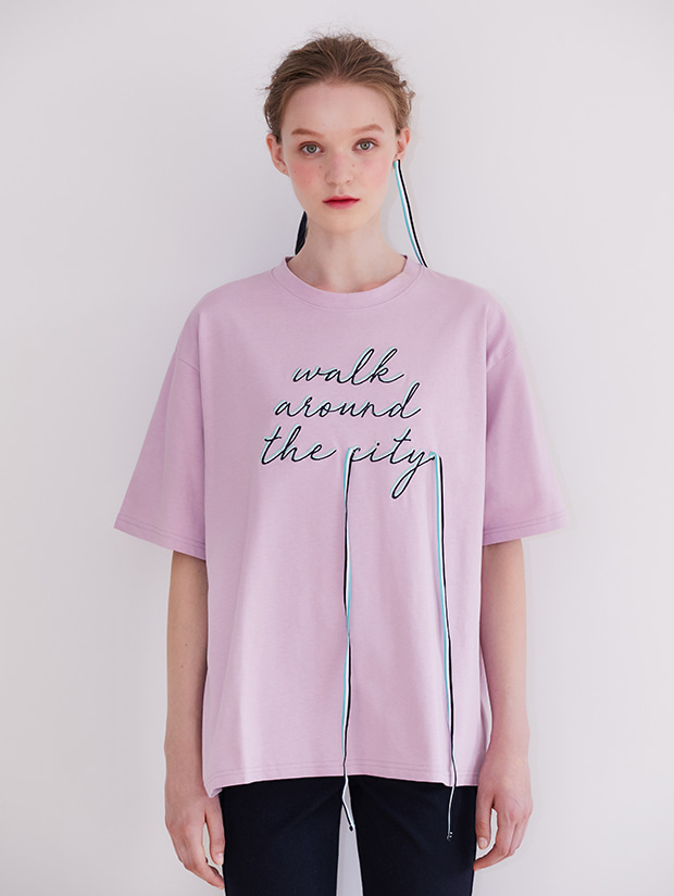 19FW PRE-FALL RIBBON GRAPHIC T-SHIRT_PURPLE